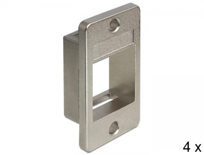 Keystone Halterung für Geräteeinbau 4 Stück, Delock® [86413]
