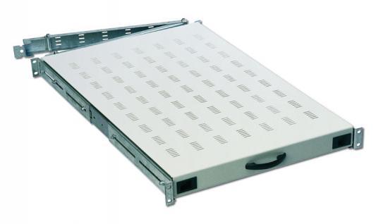 Digitus® 19' Fachboden, 1U D=1000mm, schwarz, DN-19 TRAY-1-1000-SW