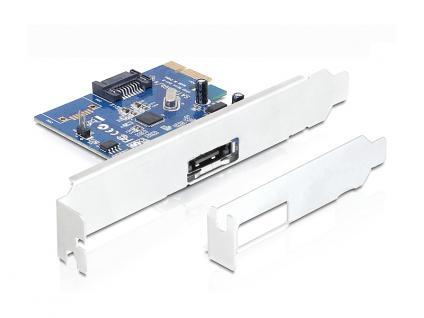 Schnittstellenkarte, PCI Express an 1 x extern eSATA 6 Gb/s und 1 x intern SATA 6 Gb/s, Delock® [89324]
