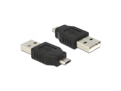 Adapter USB micro B Stecker an USB 2.0 A Stecker, Delock® [65036]