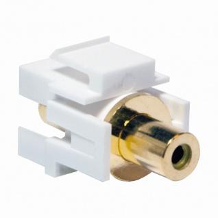 Keystone Verbinder Cinch Buchse an Cinch Buchse - gelb, LogiLink® [NK0023]