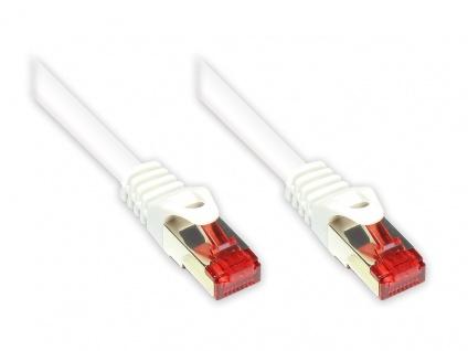RNS® Patchkabel mit Rastnasenschutz, Cat. 6, S/FTP, PiMF, PVC, 250MHz, weiß, 10m, Good Connections®