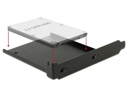 Einbaurahmen für 1x 2.5' HDD in den PC Slot, Delock® [18212]