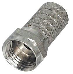 F-Stecker, Twist-On, für Kabel-ß: 6, 0 mm, vernickelt