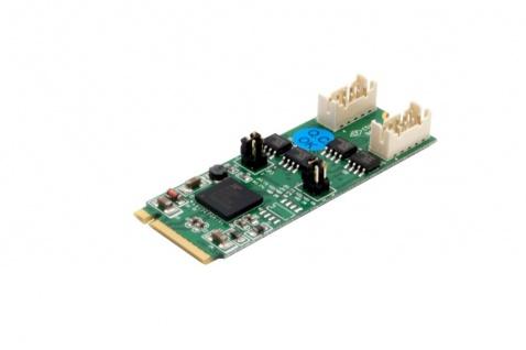 2S Seriell RS-422/485 zu M.2 NFGG Karte mit 2x 9 Slot Kabel, Exsys® [EX-48210]