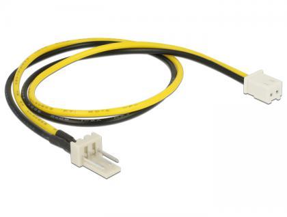 Stromkabel 3 Pin Stecker an 2 Pin Buchse (Lüfter) 30 cm, Delock® [83655]