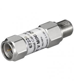 Mini Koaxialkabel-Verstärker 18dB (DVB-T), F-Stecker auf F-Kupplung (5-862 MHz)