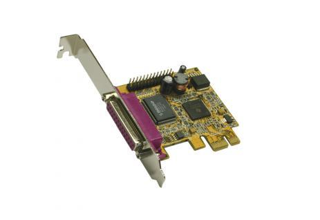 PCI Express 2 x Parallel Karte, EPP/ECP, Netmos Chip-Set, Exsys® [EX-44012]