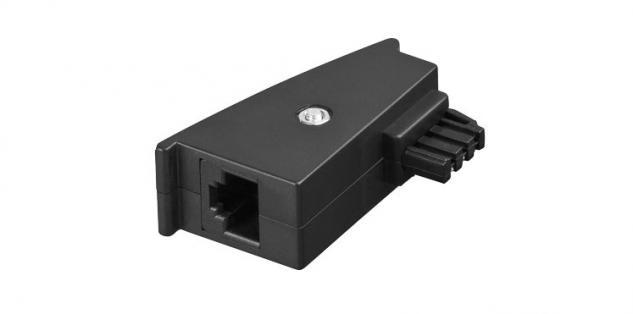 kabelmeister® TAE Adapter, Stecker F auf RJ45 (8P2C) Kupplung
