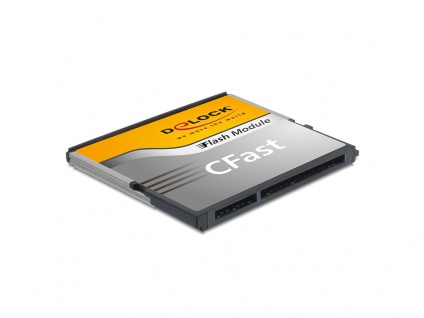 CFast Flash Card SATA 6 Gb/s, 128 GB, Typ MLC, Delock® [54652]