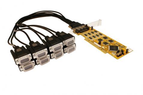8S Seriell RS232/422/485 PCI Combo Karte inkl. Octopus Kabel und LP Bügel, Treiber für Linux und SCO-Unix (SystemBase), Exsys® [EX-42378]