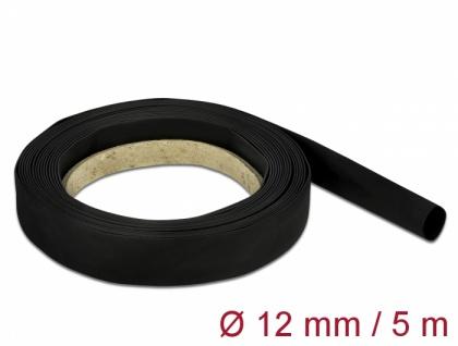 Schrumpfschlauch 5 m x 12 mm schwarz, Delock® [18939]