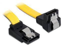 Kabel, SATA 6Gb/s, abgewinkelt, oben/unten, Metall, 0, 7m, Delock® [82822]