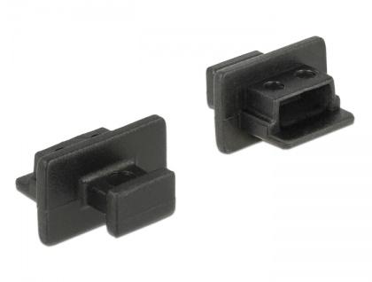 Staubschutz für USB 2.0 Mini-B Buchse, mit Griff, 10 Stück, schwarz, Delock® [64011]