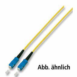 kabelmeister® Patchkabel LWL Simplex OS2 (Singlemode, 9/125) SC/SC, gelb, 1m
