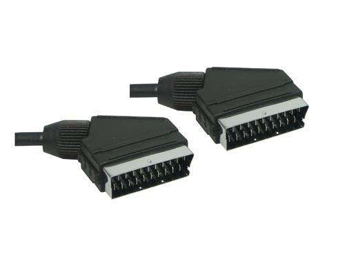 Anschlusskabel Scart Stecker an Stecker, 0, 6m, Good Connections®