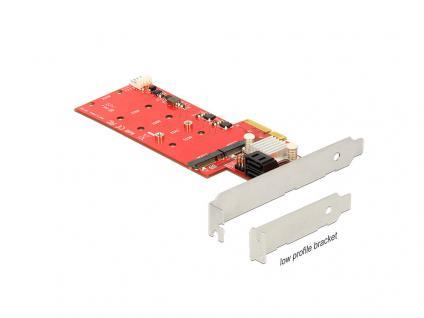 PCI Express Karte an 2 x intern M.2 NGFF + 2 x SATA 6 Gb/s mit RAID, Delock® [89379]