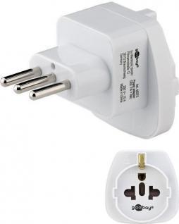 Netzadapter, Italien-Stecker (Typ L) an Schutzkontaktbuchse (Typ F), weiß