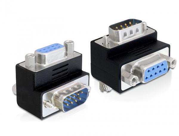 Adapter Sub-D 9 Pin Stecker an Buchse, 90____deg; gewinkelt, Delock® [65264]
