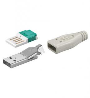 kabelmeister® USB A Stecker, unmontiert