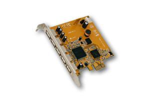 USB 2.0 PCI-Express Karte mit 5 Externen Ports (NEC), Exsys® [EX-11066]