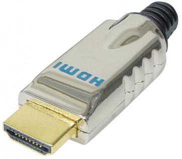 HDMI 19pol Stecker, Lötversion, Metallgehäuse, vergoldet, Good Connections®