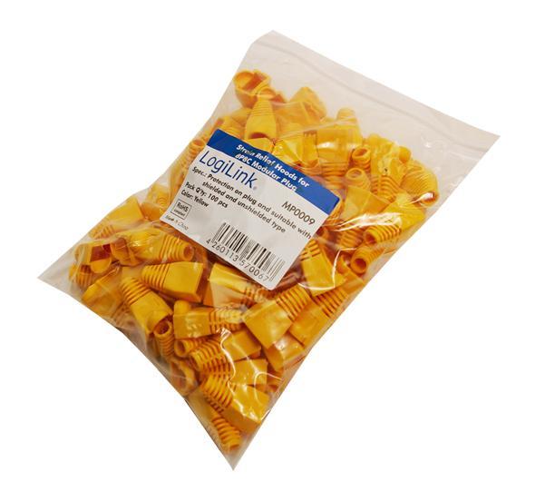 LogiLink® Modulare Knickschutzhülle 100 Stück gelb [MP0009]
