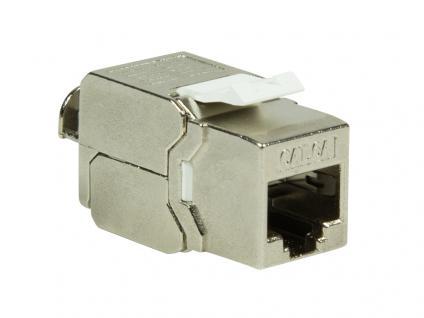 Modular Buchse RJ45, Cat.6A, Slim-Type, 10 Gbit/s, vollgeschirmt, 180____deg; werkzeuglos, LogiLink® [NK4000]