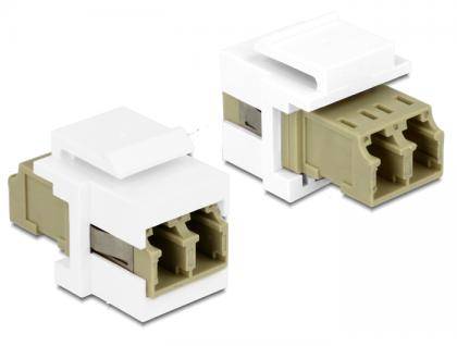 Keystone Modul LC Duplex Buchse an Buchse Multimode, Delock® [86347]