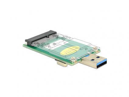 Konverter USB 3.0 A Stecker an mSATA, Delock® [62681]