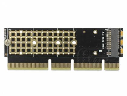 PCI Express x16 (x4 / x8) Karte zu 1 x NVMe M.2 Key M für Server , Delock® [90303]