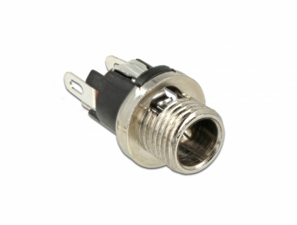 Steckverbinder DC 5, 5 x 2, 1 x 9, 5 mm Buchse zum Einbau, Delock® [89910]