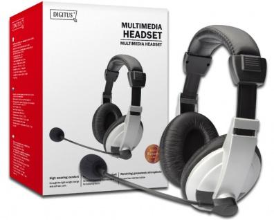 Stereo Multimedia Headset mit Lautstärkeregler