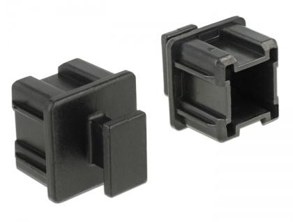 Staubschutz für Mini SAS HD SFF 8644 Buchse, mit Griff, 10 Stück, schwarz, Delock® [64012]