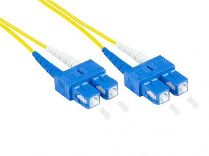 kabelmeister® Patchkabelkabel LWL Duplex OS2 (Singlemode, 9/125) SC/SC, LSZH, austauschbare Polarität, 0, 5m