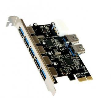 Schnittstellenkarte, USB 3.0 PCI-Express mit 5+2 Ports (VIA), Exsys® [EX-11087]