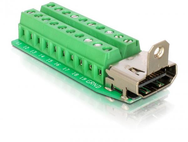Adapter Terminalblock an HDMI-Buchse, Delock® [65168]