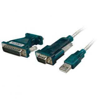 Adapter, USB 2.0 zu Seriell, 9+25 Pin, LogiLink®, [UA0042A]