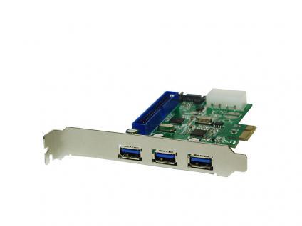 PCI Express Karte, 3x USB 3.0 + 1x SATA II + 1x IDE, LogiLink® [PC0069]