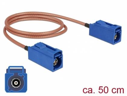 Antennenkabel FAKRA C Buchse an FAKRA C Buchse RG-316 50 cm, Delock® [89667]