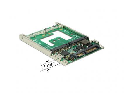 Konverter 2, 5', SATA 22 Pin an mSATA mit RAID, Delock® [62545]