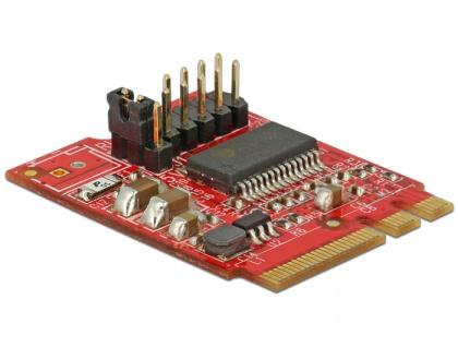 Konverter M.2 Key A+E Stecker an 1x Seriell RS-232 Stecker , Delock® [62951]