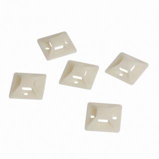Kabelbinderhalterungen, selbstklebend, Kabelbinderaufnahme: 9, 1 x 2, 6 mm, 100 Stück, LogiLink® [KAB0043]