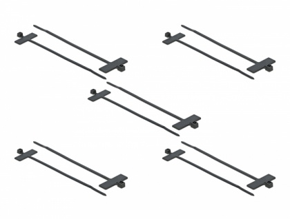 Kabelbinder mit Beschriftungsfeld L 200 x B 2, 5 mm schwarz 10 Stück, Delock® [18959]