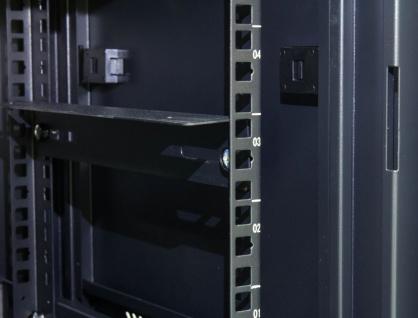 19' Wandgehäuse, 12HE, tiefschwarz (RAL9005) Rückseite schwenkbar, 600x550 mm, fertig montiert, mit Lüfter, Good Connections®