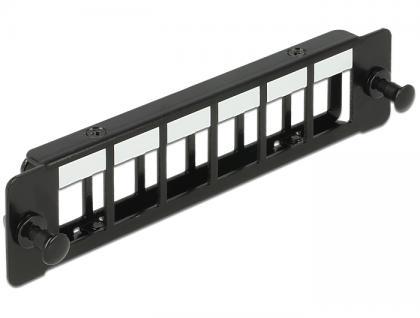Keystone Halterung 6-Port Panel für Geräteeinbau, Delock® [86274]