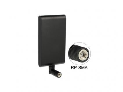WLAN Antenne RP-SMA 802.11 ac/a/h/b/g/n 7, 5 ~ 10 dBi direktional Gelenk, Delock® [88904]