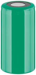 Werkzeugakku, Ersatzakku für schnurlose Elektrowerkzeuge, Sub-C, PVC-Mantel, Flat-Top, 1, 2V, 1500mAh, Ni-MH