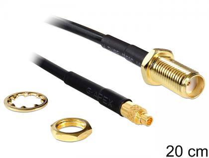 Antennenkabel SMA Buchse zum Einbau an MMCX Stecker 200 mm, Delock® [88580]