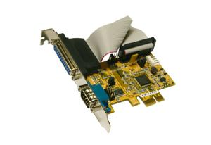 1S Seriell / 1P Parallel Multi I/O PCI-Express Karte, Exsys® [EX-44171]